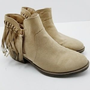 American Eagle Knotted Fringe Booties